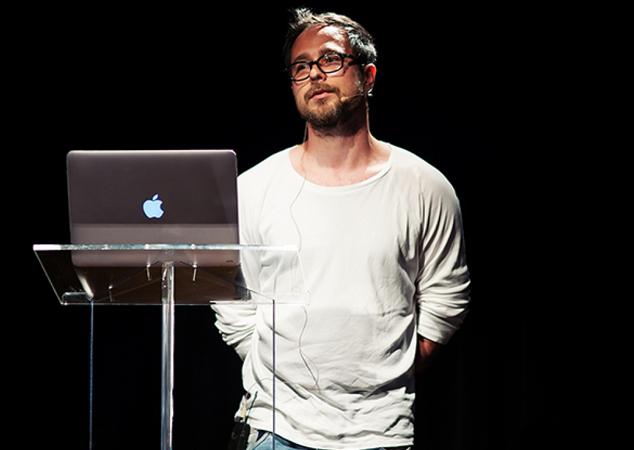 prezenter podczas konferencji