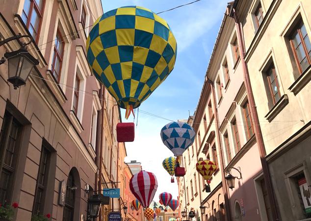 balony nastarym mieście wlublinie
